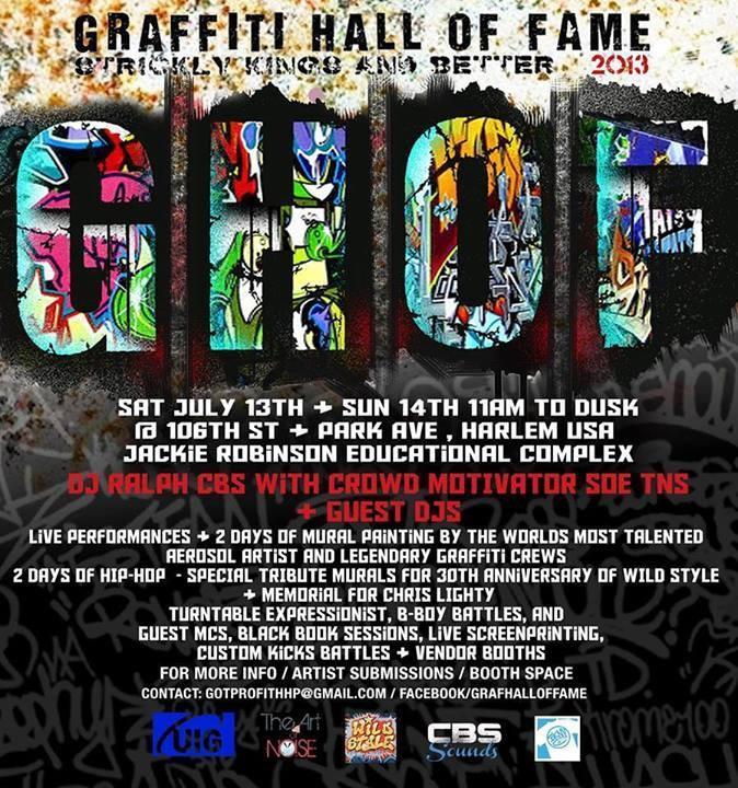 Graffiti Hall Of Fame NYC 2013