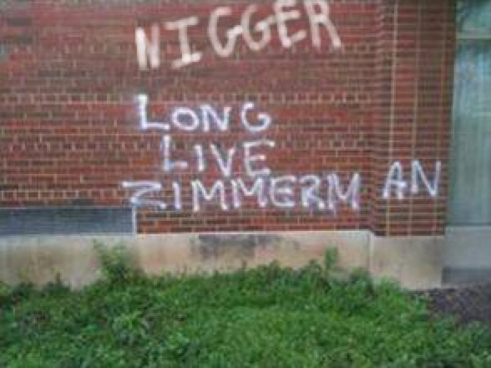 Racist zimmerman-graffiti copy