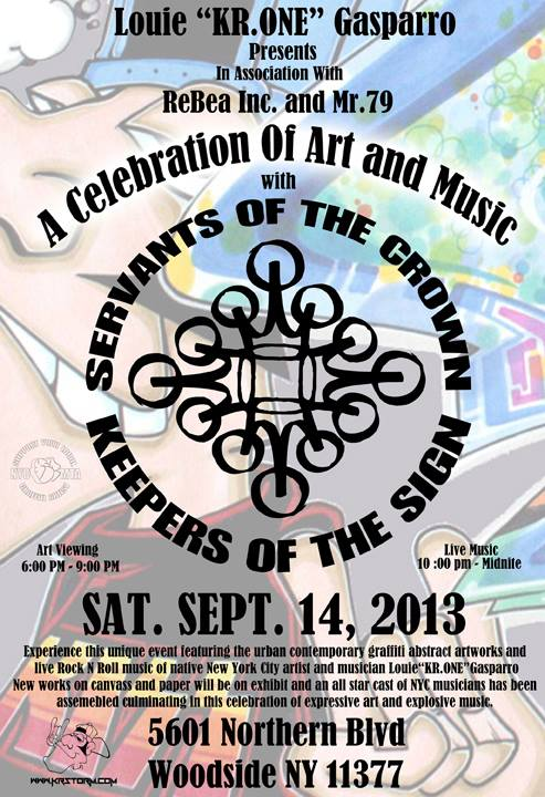 KR ONE - A Celebration of Art and Music / NYC Street Art