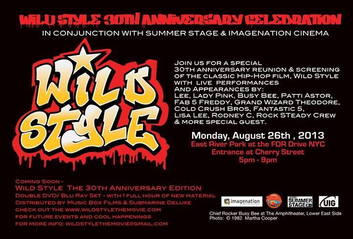 WILD STYLE is 30 years old / New York City Events